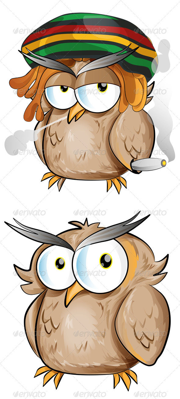 GraphicRiver Owl Cartoon Set 7819743