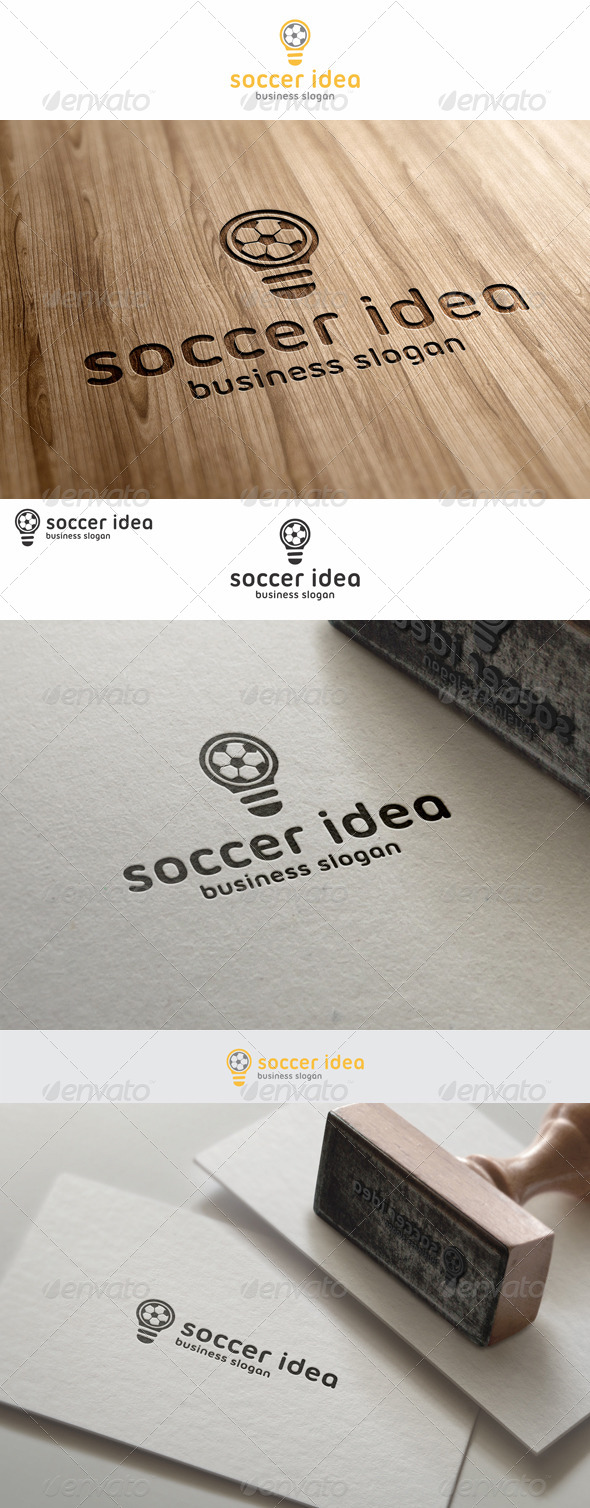 Soccer Idea Football Logo - Objects Logo Templates