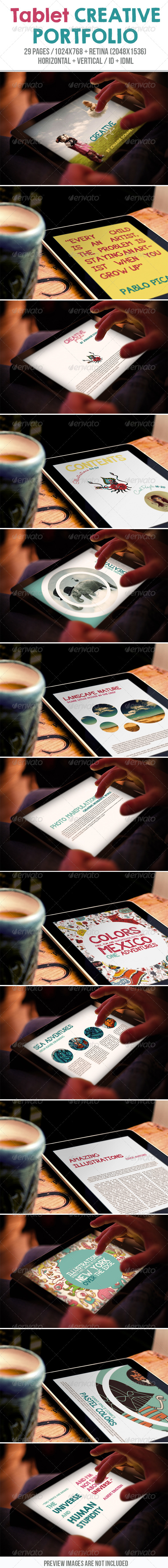 GraphicRiver Tablet Creative Portfolio 7819792