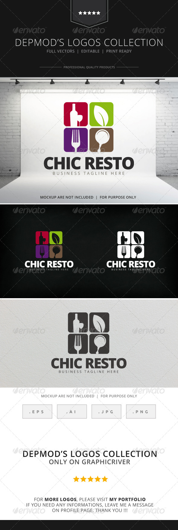 GraphicRiver Chic Resto Logo 7819795