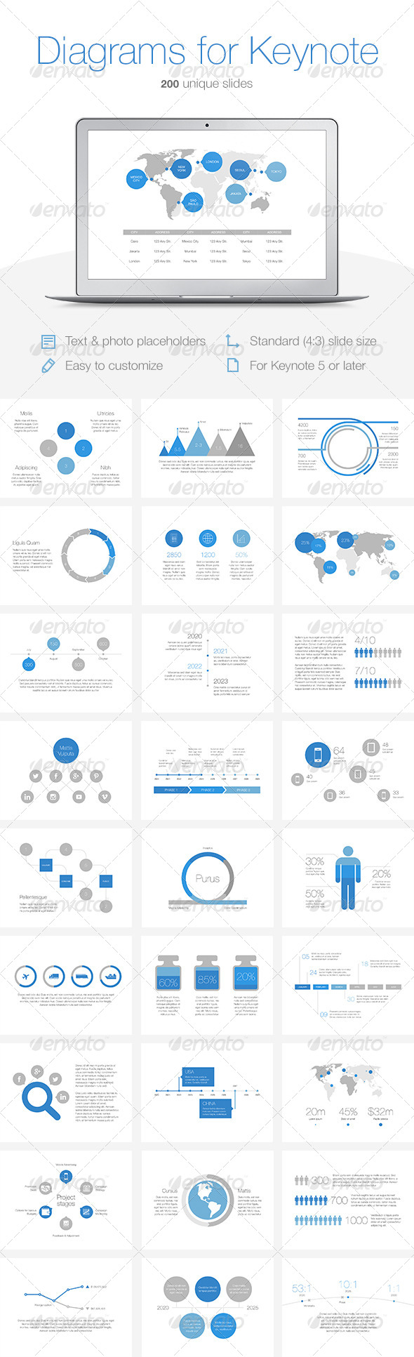GraphicRiver Diagrams for Keynote 7819805