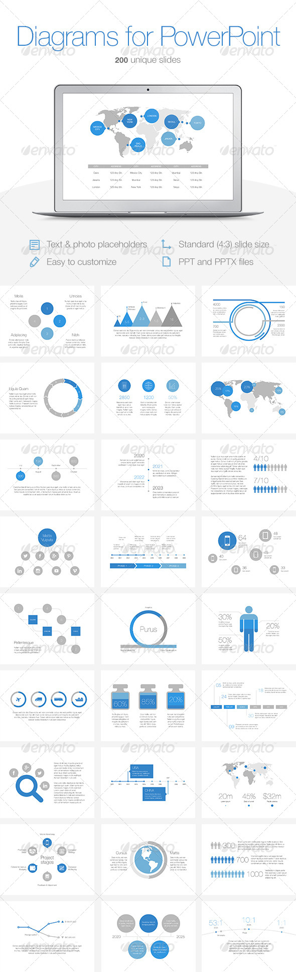GraphicRiver Diagrams for PowerPoint 7819833