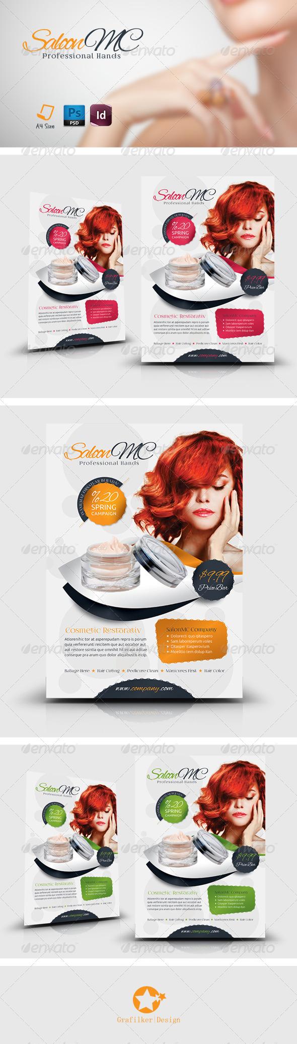 GraphicRiver Beauty Salon Flyer Templates 7809124