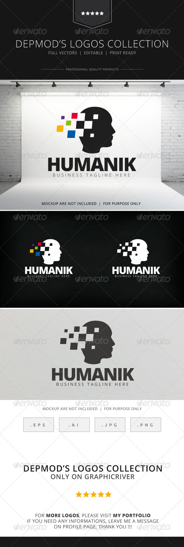 GraphicRiver Humanik Logo 7819904