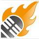 Mic on Fire Logo Template