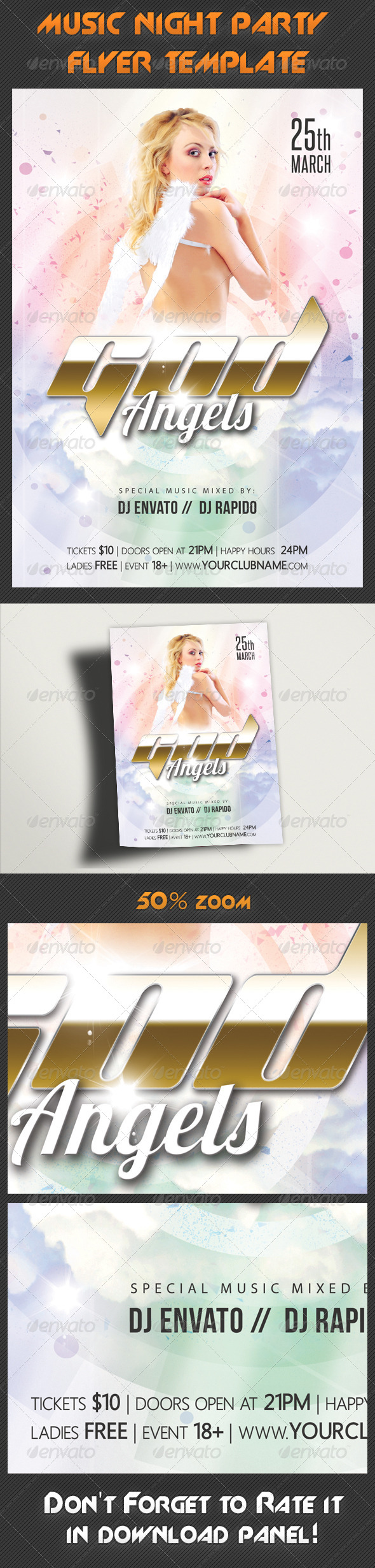 GraphicRiver Music Night Party Flyer Template 15 7820370