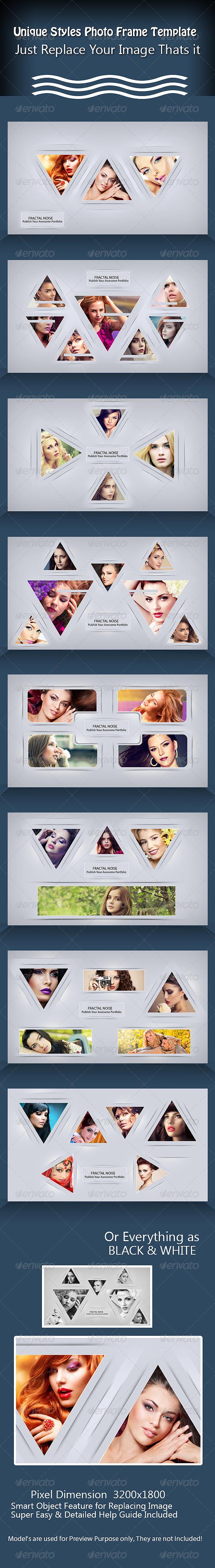 GraphicRiver Unique Styles Photo Frame Template 7820414