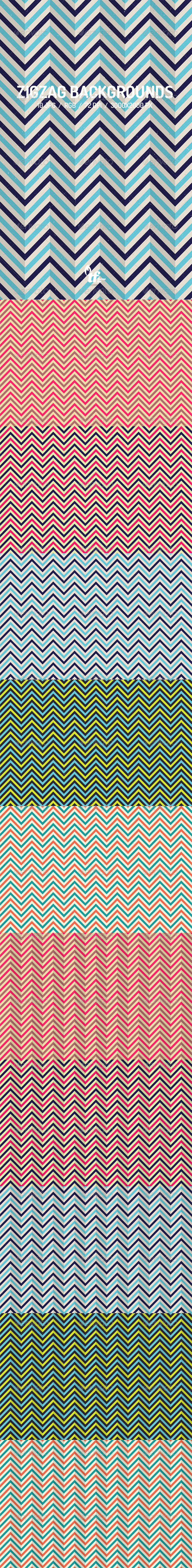 GraphicRiver Zigzag Backgrounds 7820429