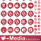 Media Buttons and Icons