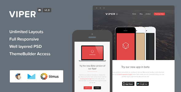 ThemeForest Viper Responsive Email & Themebuilder Access 7820732