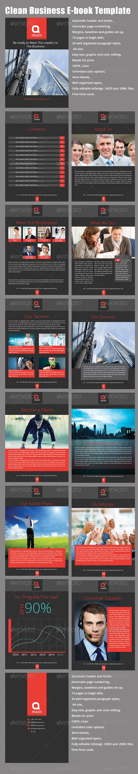 Clean Business E-book Template