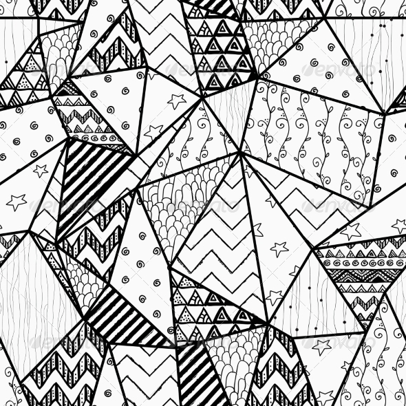 GraphicRiver Geometric Hand-Drawn Abstract Seamless Background 7820972