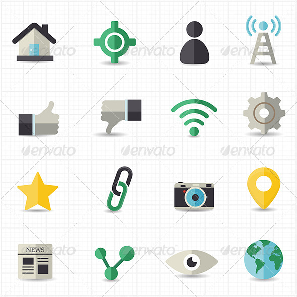 GraphicRiver Social Network Icons 7821095