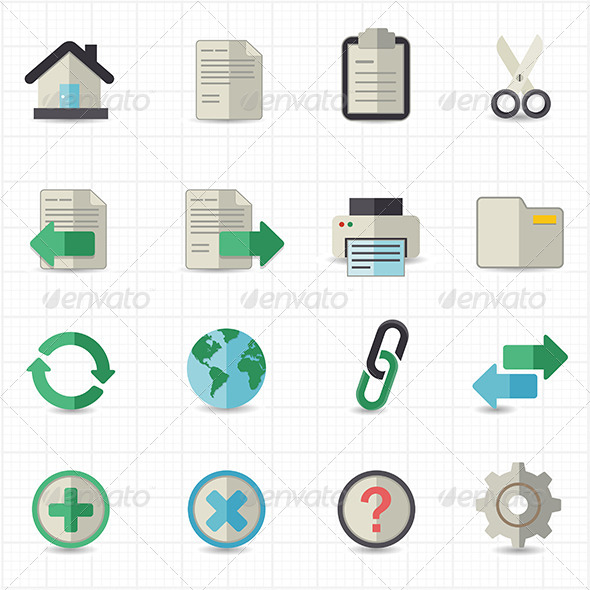 GraphicRiver Toolbar Website Icons 7821114