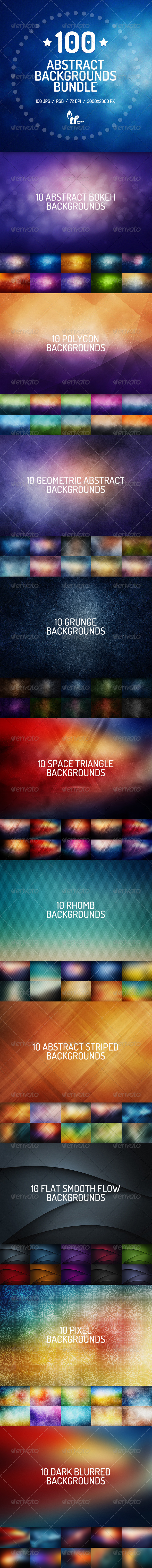 GraphicRiver 100 Abstract Backgrounds Bundle 7821118