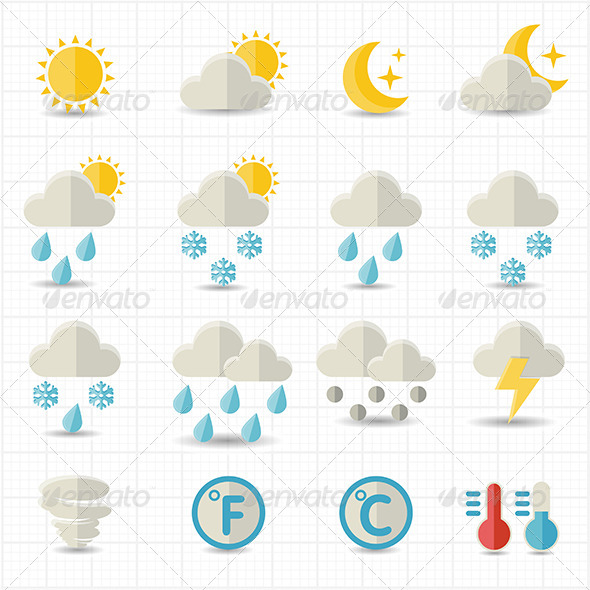 GraphicRiver Weather Icons 7821176