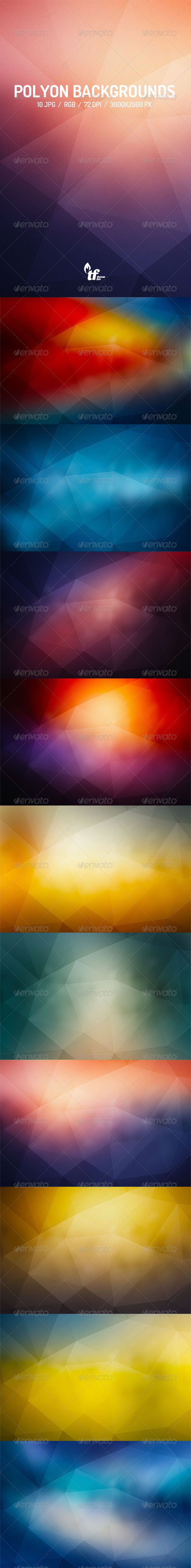 GraphicRiver Abstract Poly Backgrounds 7821665
