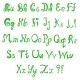English Hand-Written Alphabet in Spring Style - GraphicRiver Item for Sale