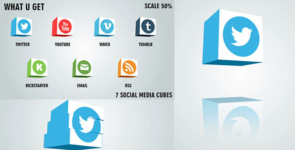 Social Media Cubes Pack 2