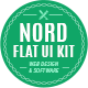 Nord Flat UI Kit - GraphicRiver Item for Sale