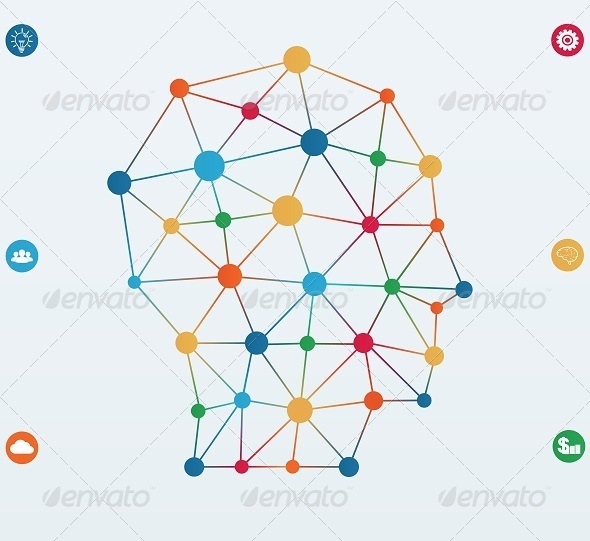 GraphicRiver Network Connections Lines 7814263