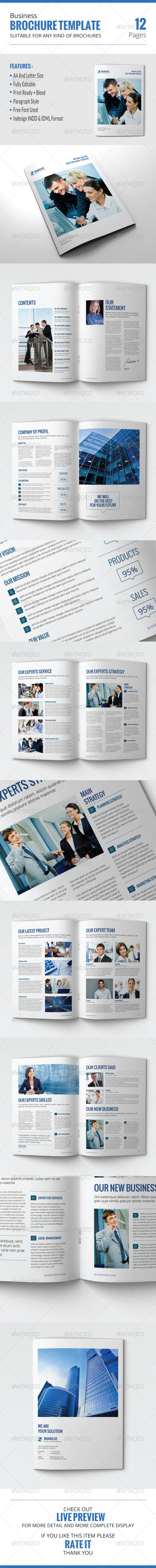 GraphicRiver Business Brochure Template 7822270