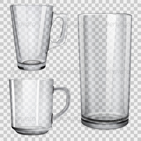 Glass Cups and Glass for Juice