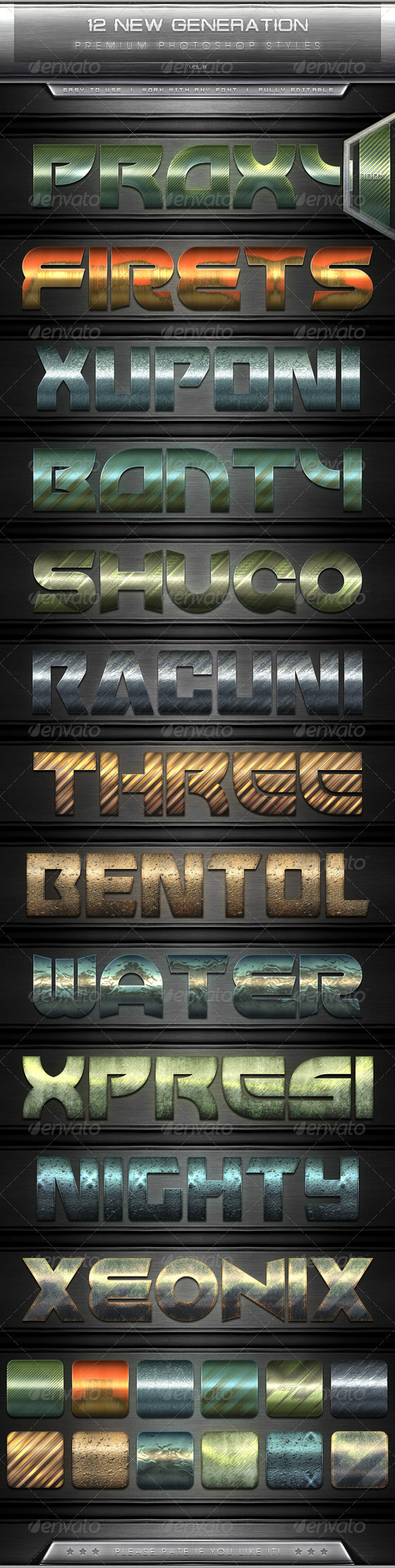 GraphicRiver 12 New Generation Text Effect Styles Vol.8 7822316