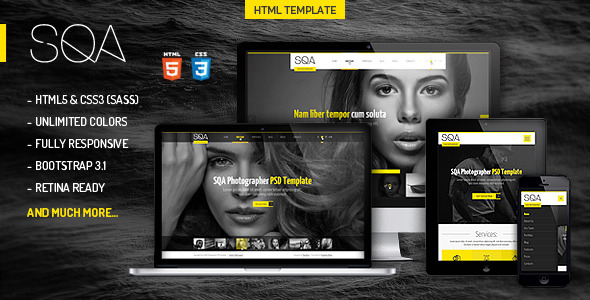 SQA - Portfolio & Photography Template - Banner
