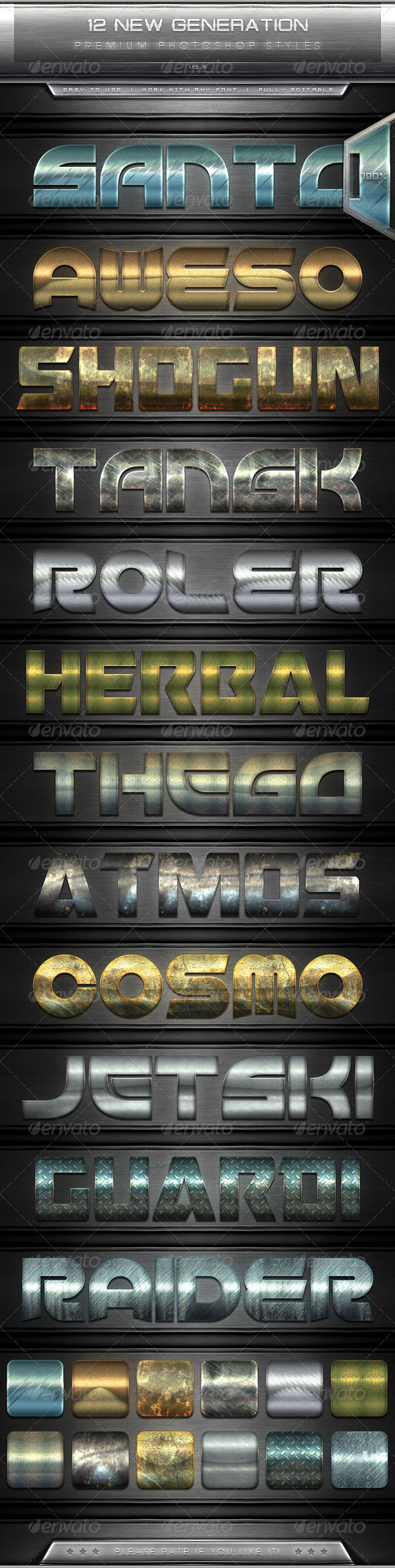 GraphicRiver 12 New Generation Text Effect Styles Vol.9 7822379