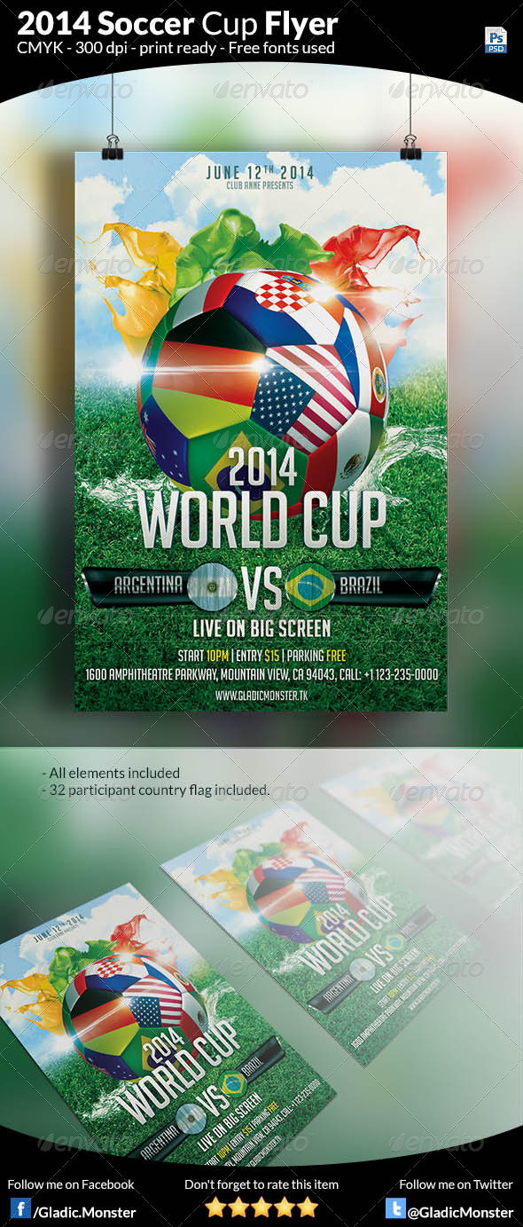 GraphicRiver Soccer Cup Flyer 7822431