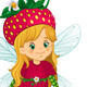 Fairy Strawberry Sitting - GraphicRiver Item for Sale