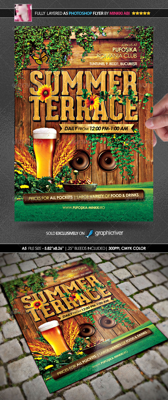 GraphicRiver Summer Terrace Poster Flyer 7822493