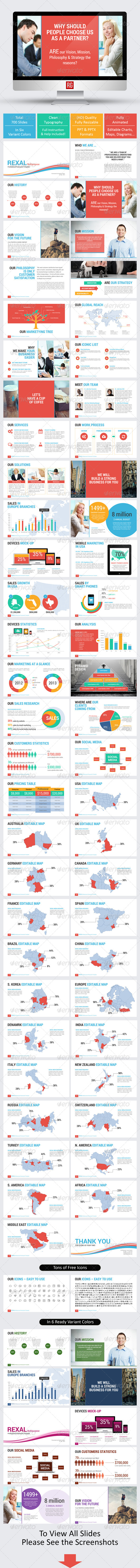 GraphicRiver Rexal Multi-purpose Powerpoint Template 7822544