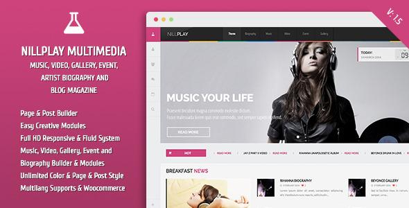 Nillplay Multimedia Music, Video, Event Magazine - Entertainment WordPress