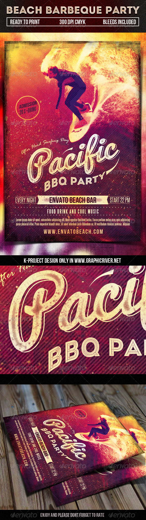 GraphicRiver Beach Barbeque Party Flyer 7822986