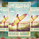 Summer Surfing Madness Flyer - GraphicRiver Item for Sale