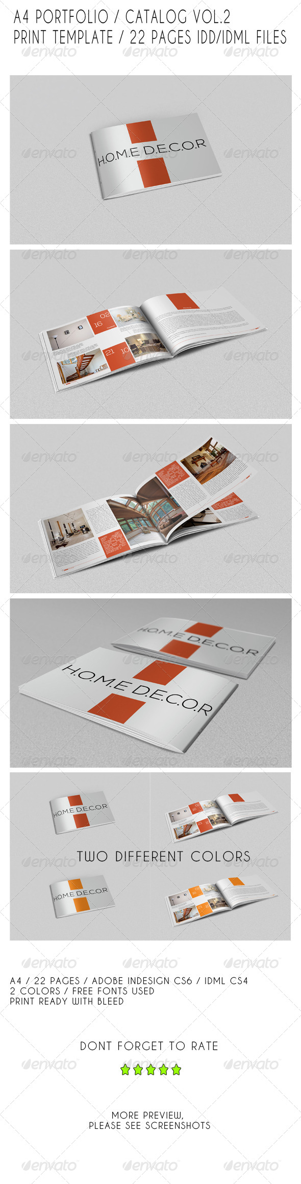GraphicRiver A4 Portfolio Catalog Template 7823002