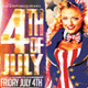 Retro 4th of July Flyer Template PSD - GraphicRiver Item for Sale
