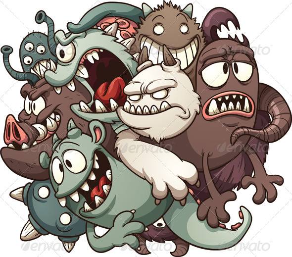 GraphicRiver Cartoon Monsters 7823037