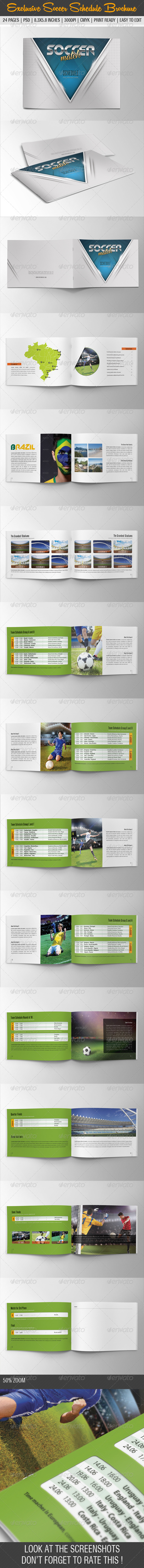 GraphicRiver Exclusive Soccer Match Schedule 2014 Brochure 7823056