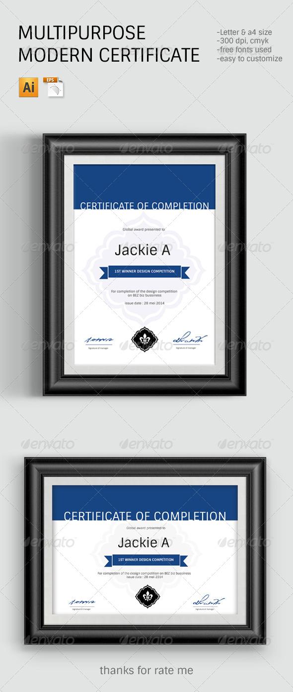 Modern & Clean Certificate Template