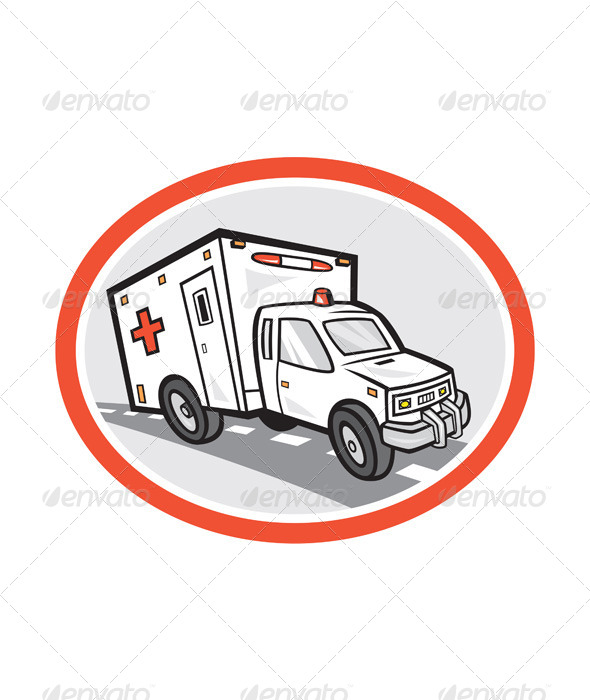 GraphicRiver Ambulance Emergency Vehicle Cartoon 7823326