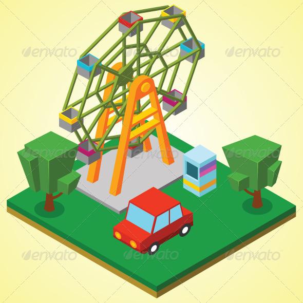 GraphicRiver Ferris Wheel 7823332