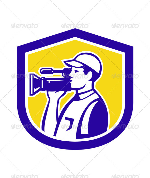 GraphicRiver Cameraman with Video Camera 7823339