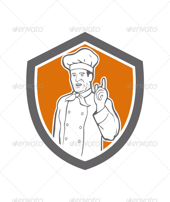 GraphicRiver Chef Cook Baker Shield 7823341