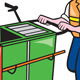 Streeet Cleaner Pushing Trolley