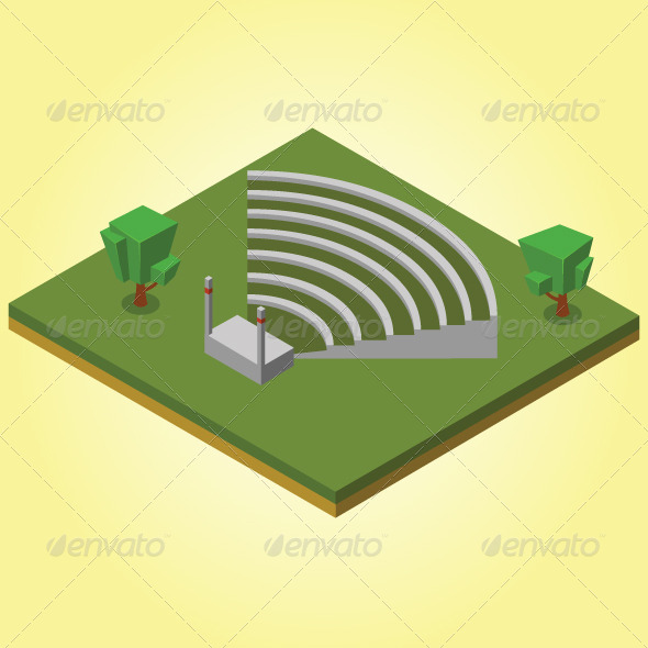 GraphicRiver Isometric Amphitheater 7823398