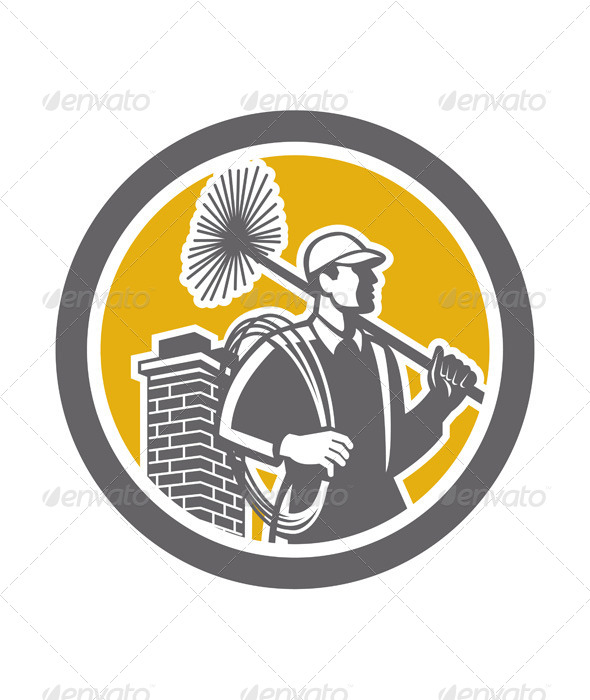 GraphicRiver Chimney Sweeper Worker Retro 7823402