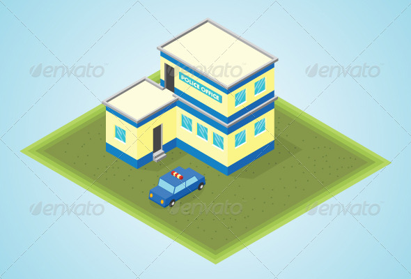 GraphicRiver Isometric Police Office 7823404